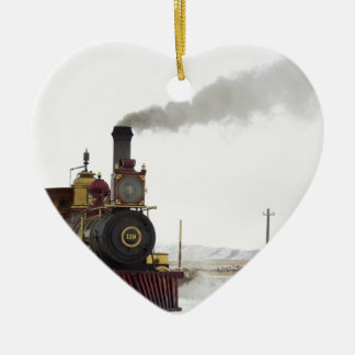 team Train Ceramic Heart Decoration