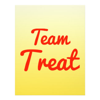 Team Treat Personalized Flyer