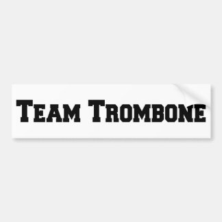Team Trombone Bumper Sticker