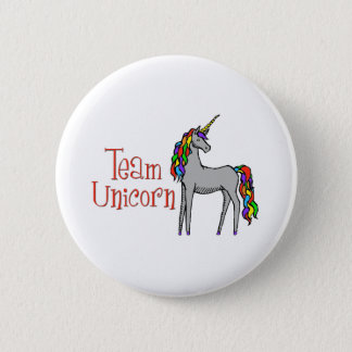 Team Unicorn Rainbow 6 Cm Round Badge