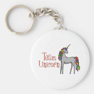 Team Unicorn Rainbow Key Ring