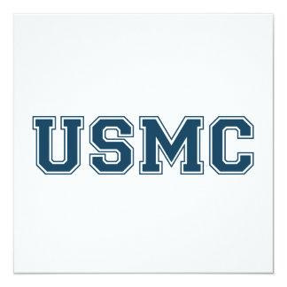 Team USMC 13 Cm X 13 Cm Square Invitation Card