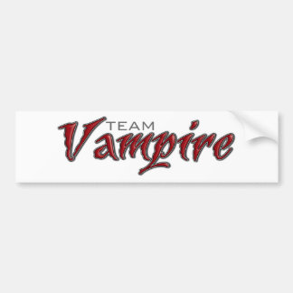 Team Vampire Bumper Sticker
