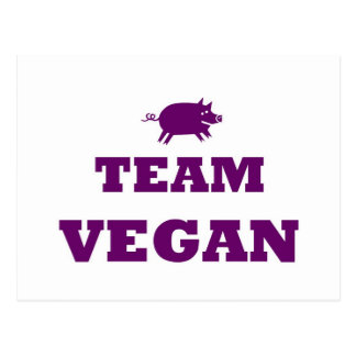 Team Vegan Postcard