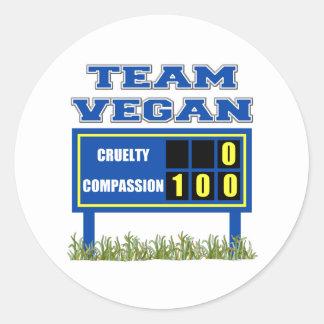 Team Vegan Stickers