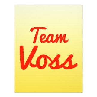Team Voss Full Color Flyer