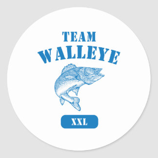 Team Walleye Classic Round Sticker