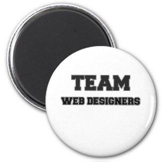Team Web Designers 6 Cm Round Magnet