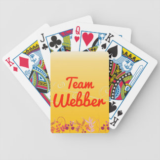 Team Webber Bicycle Playing Cards