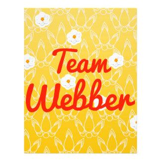 Team Webber Flyer Design