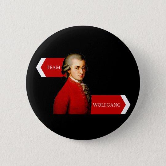 Team Wolfgang. Wolfgang Amadeus Mozart fan 6 Cm Round Badge
