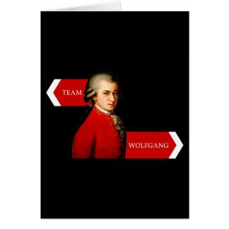 Team Wolfgang. Wolfgang Amadeus Mozart fan Note Card