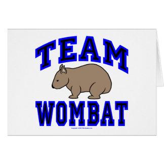 Team Wombat IV Greeting Card