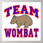 Team Wombat VI Print