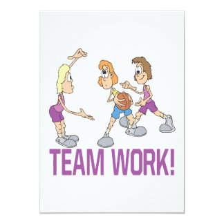Team Work 13 Cm X 18 Cm Invitation Card