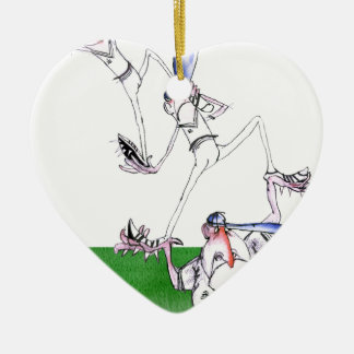 team work - cricket, tony fernandes christmas ornament