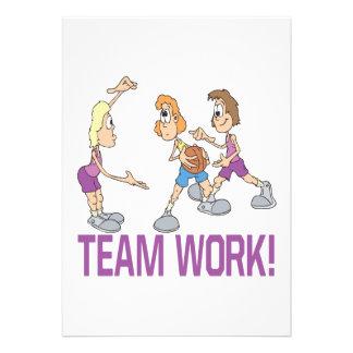 Team Work Personalized Invite