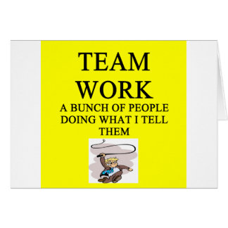 team work joke card