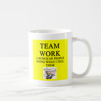 team work joke coffee mug