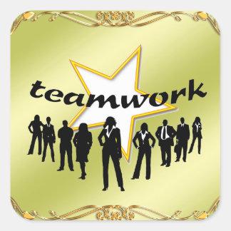 Team-work Square Sticker