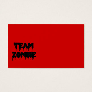 Team Zombie Business Card