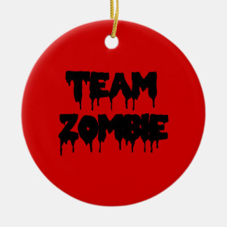 Team Zombie Christmas Ornament