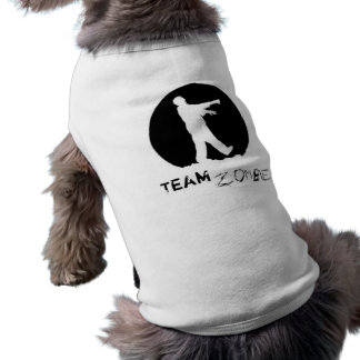 team zombie copy sleeveless dog shirt