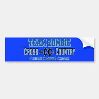 Team Zombie Cross Country Cardio Design Bumper Sticker