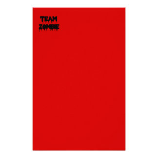 Team Zombie Personalised Stationery