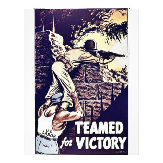 Teamed For Victory 21.5 Cm X 28 Cm Flyer