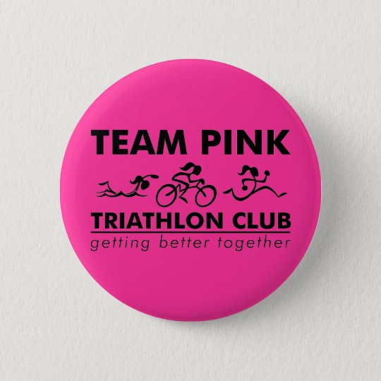 TeamPink Rectangle Logo 6 Cm Round Badge