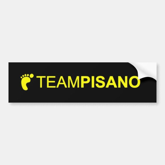 TeamPisano Bumper sticker