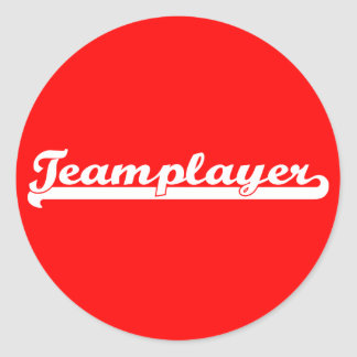 Teamplayer Classic Round Sticker