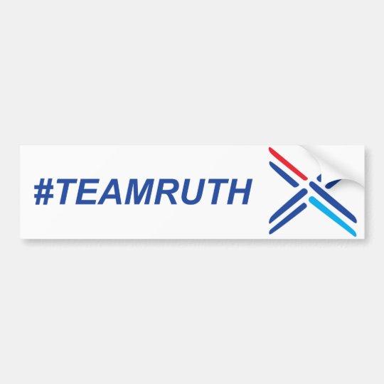 #TeamRuth Ruth Davidson Scottish Conservatives Bumper Sticker
