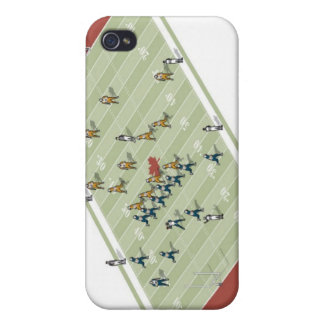 Teams on Canadian football pitch iPhone 4/4S Covers