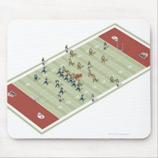 Teams on Canadian football pitch Mouse Pad