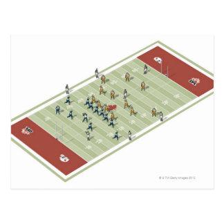 Teams on Canadian football pitch Postcard