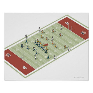 Teams on Canadian football pitch Poster