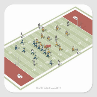 Teams on Canadian football pitch Stickers