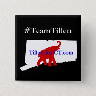 #TeamTillett Logo CT wh/blk square Button