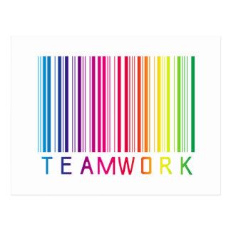 Teamwork Barcode 02 Postcard