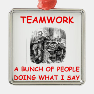 teamwork christmas ornament