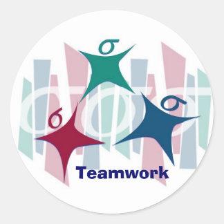 Teamwork Classic Round Sticker