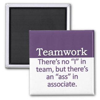 Teamwork Definition Square Magnet