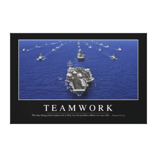 Teamwork: Inspirational Quote Canvas Print