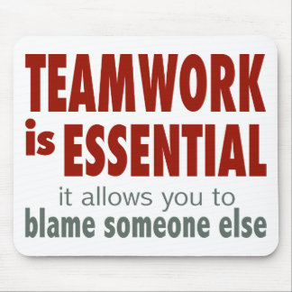 Teamwork is Essential Mouse Mat