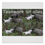 Teamwork ist alles posterdruck