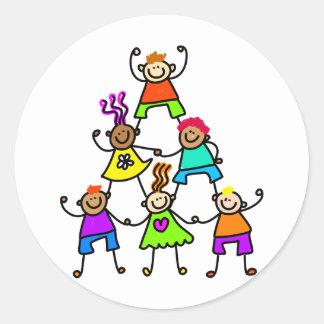 Teamwork Kids Classic Round Sticker
