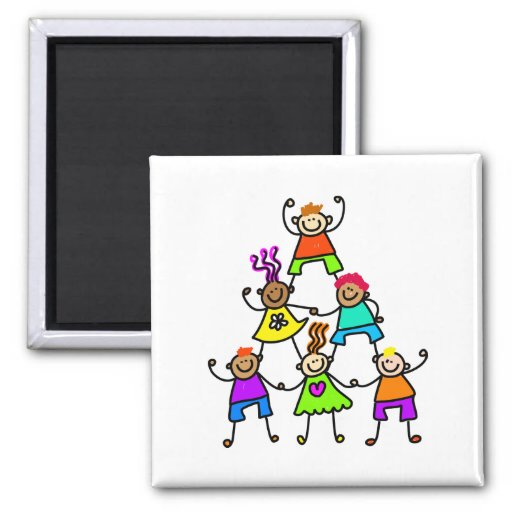 Teamwork Kids Fridge Magnets