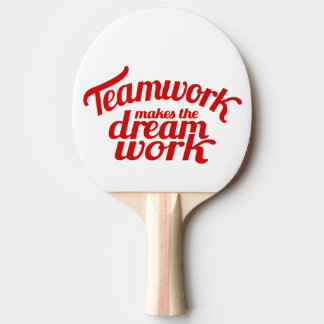 Teamwork makes the dream work red graphic bat
